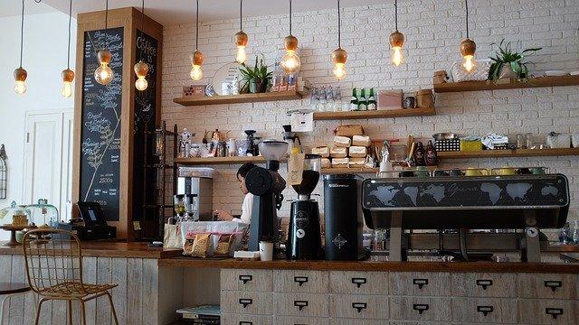 カフェのグラインダーの画像