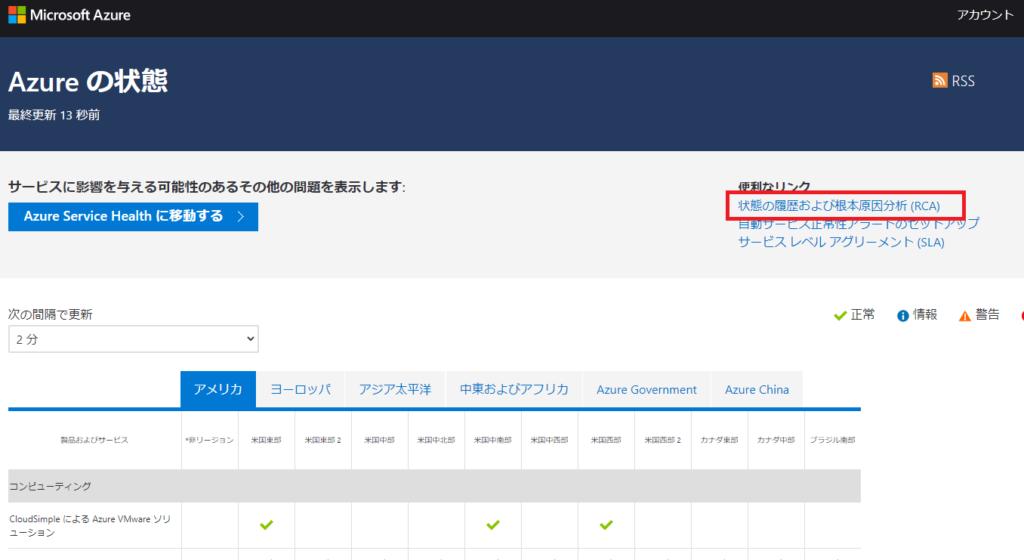 Azureの状態監視