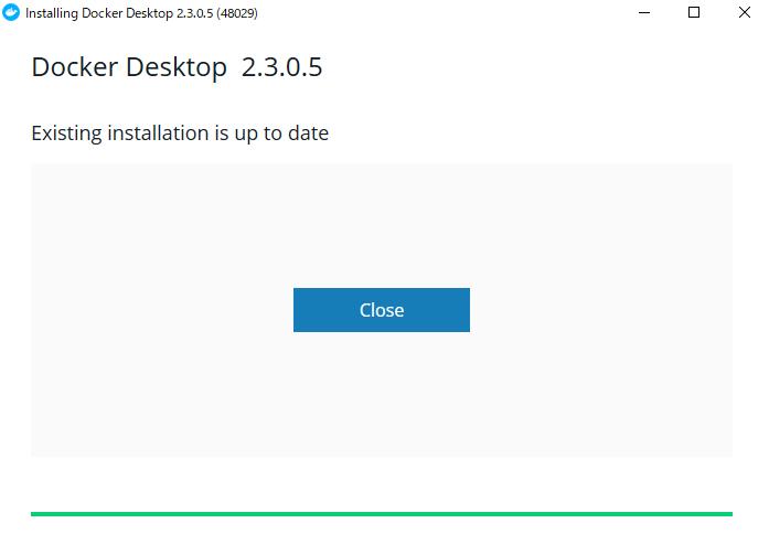 Dockerセットアップ完了