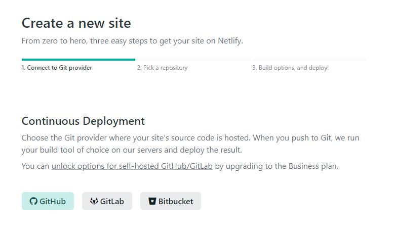 Netlify Gitの登録