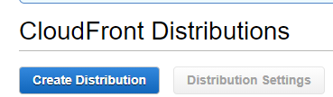 Cloudfront Create Distribution