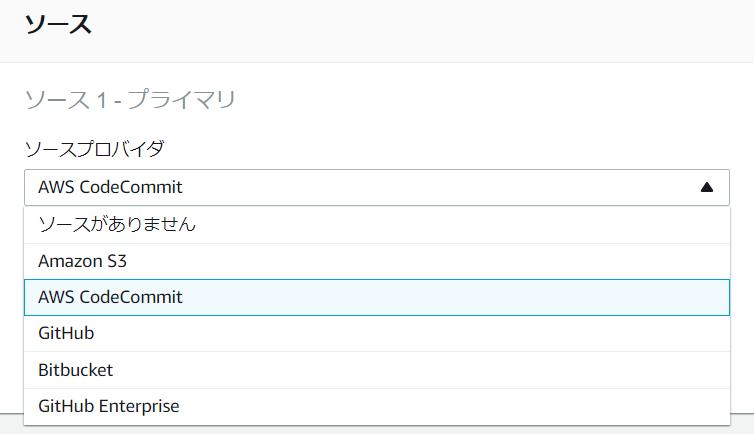 CodeBuildでGitLabの項目がない