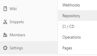 GitLabのSettings