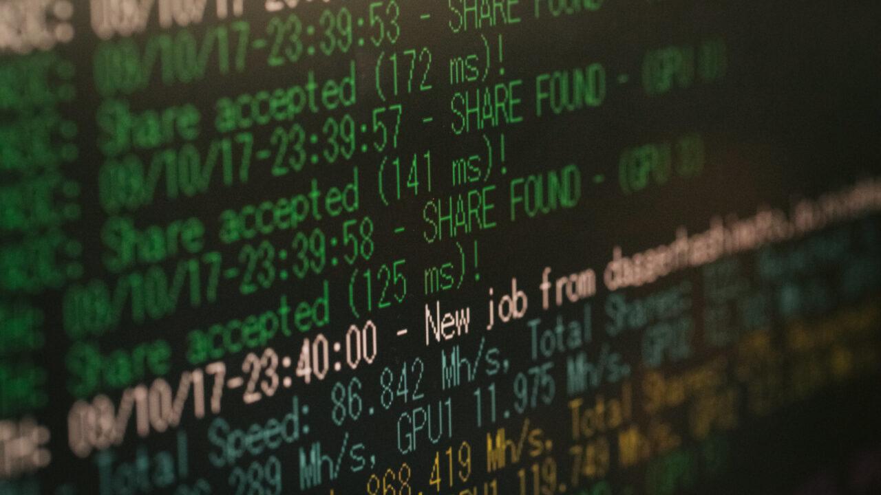 Linuxサーバーの画面
