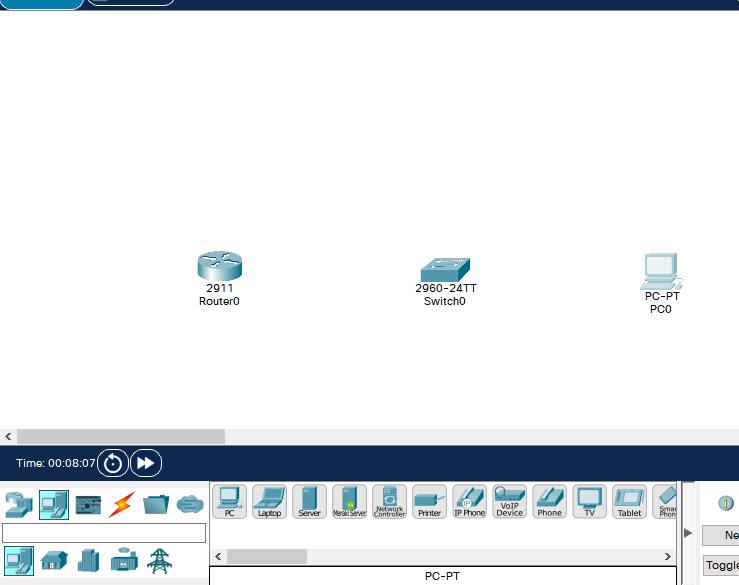 PacketTracerで様々な種類の機器を配置してみよう